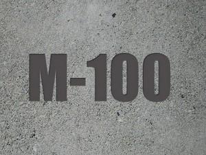 Марка бетона м 100